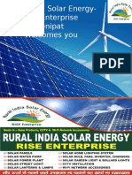 Rural India Solar Energy-RISE Enterprise Business Presentation English