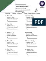Density Worksheet 1 PDF