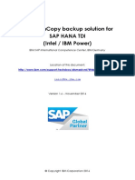 IBM FlashCopy Backup Solution for SAP HANA TDI 1.6