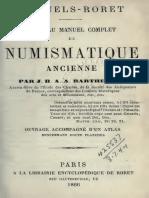 Nouveau manuel complet de numismatique ancienne. Ouvrage accompagne d'n atlas / par J.B.A.A. Barthelémy