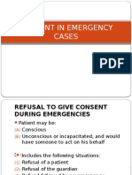 Consent in Emergency Cases