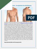 Brustasymmetrie - Korrigierbare Brustfehlbildung