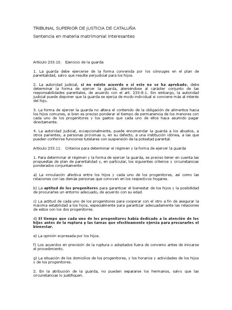 Tribunal Superior De Justicia De Catalu U00f1a
