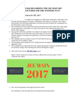 Important Faqs Regarding the Jee Main 2017 Application Form and the Answers to It