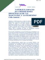 Definiciones Ideológicas de Lo Masculino y Femenino -Celia Amorós