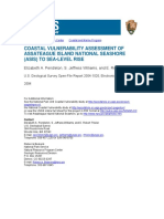 Coastal Vulnerability Assessment of Assateague Island National Seashore, Asia to Sea Level Rise