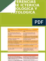 Diferencias Entre Ictericia Fisiológica y Patologica