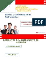 Validez y Confiabilidad de Instrumentos