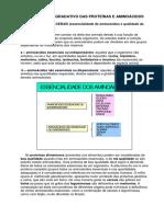 Considerações Sobre Metabolismo de Proteínas