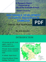 Presentation of Research Study on Sustainable Development of Forest Resources in Cambodia