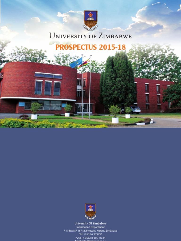 UZ Prospectus 2015 to 2018 | Academic Degree | University