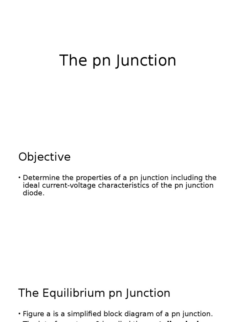 Pn Junction Diode Semiconductors And Its Characteristics
