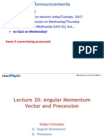 Lecture20 - Angular Momentum and Vector Precession
