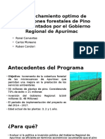 Aprovechamiento Optimo de Plantaciones Forestales de Pino