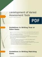 informal writing assessment