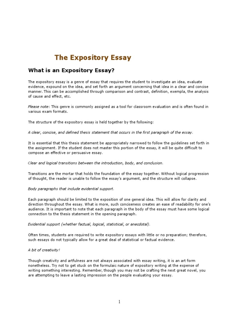 expository essay on fitness Writing expository essays when writing an essay, follow these eight basic steps: • • • select a topic: be sure the topic is narrow enough to make it manageable.