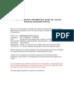 Requerimientos Inscripción Base de Datos