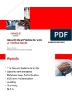 Security considerations for ORACLE Applications 11i eBusiness Suite