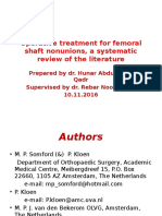 Operative Treatment for Femoral Shaft Nonunions, A