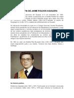 Biografia de Jaime Roldos Aguilera
