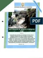 Declaracion de Impacto Ambiental DIA - Drenaje Margen Derecha - Chaquihuaycco