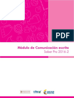 Guia de Orientacion Modulo de Comunicacion Escrita Saber Pro 2016 2 v2