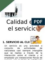 Calidad en el Servicio y Producto