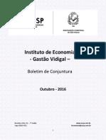 Boletim de Conjuntura ACSP - Outubro 2016