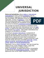 Universal Jurisdiction Under ICL