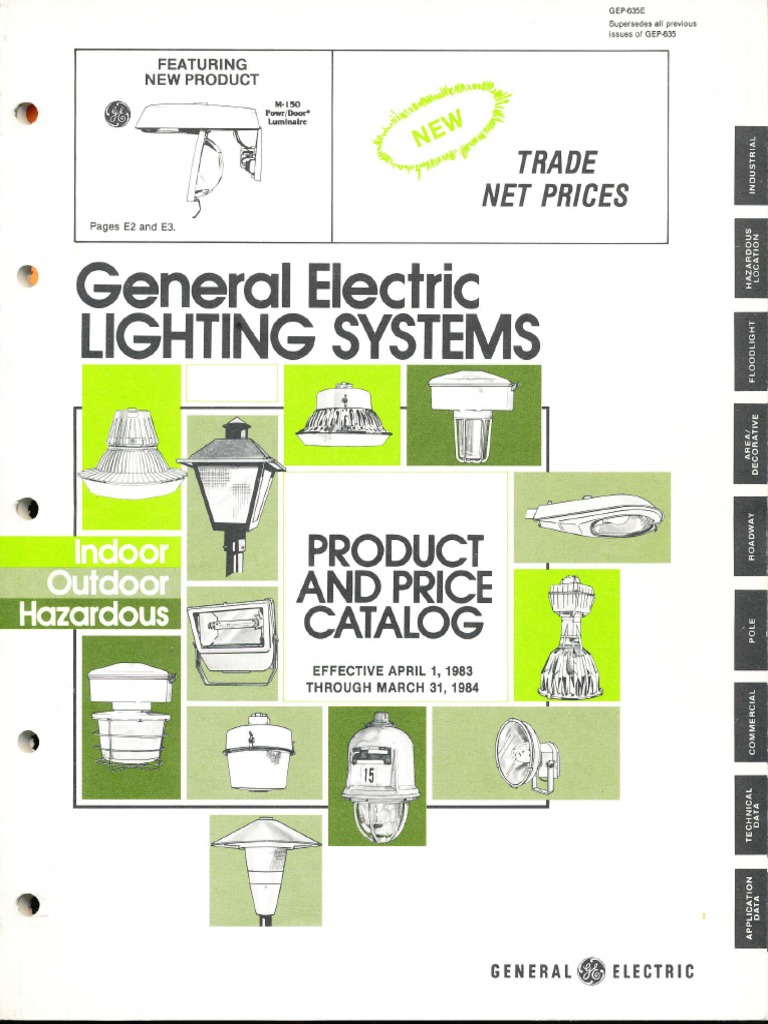 GE Lighting Systems Product Catalog 1983 1984