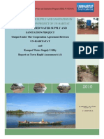 Report on Rapid Assessment Water & Sanitation