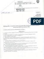 Bibliografie Si Tematica Pentru Posturile Din Sectoarele Medicale