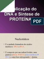 Duplicação  DNA sintese de proteinas