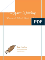 Report Writing Sample