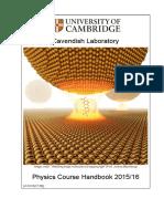 Physics Course Handbook 1516
