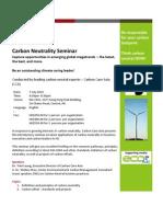 CCA Carbon Neutrality Seminar (Jul 7)