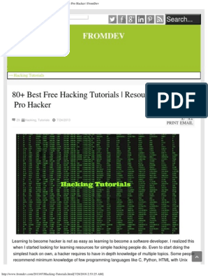 80+ Best Free Hacking Tutorials _ Resources to Become Pro