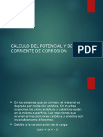 Calculo Del Potencial y Corriente de Corrosion