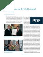Prof Dr Isac Van Der Waal Benoemd Tot Erelid
