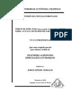 Indices de Sitio Par Pinus Patula