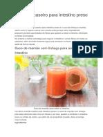 Remédio Caseiro Para Intestino Preso