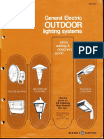 GE Lighting Systems Price Book - Outdoor Designers Guide 10-77 - 3-78