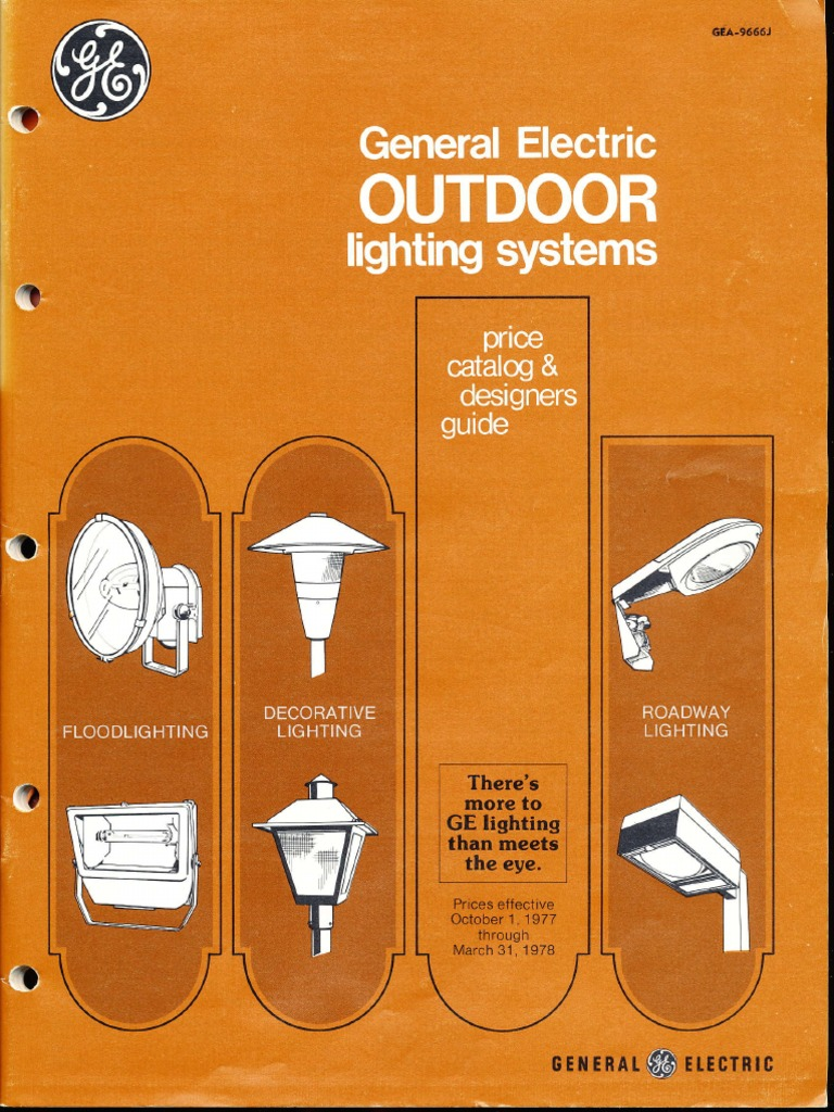 Ge Lighting Systems Price Book Outdoor Designers Guide 10 77 3 Rr3 Relay Wiring Diagram 78 Nature