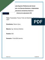 Laboratorio de Quimica-903-Ramiro Suco-Propiedades Fisicas-Punto de Ebullicon y Presion de Vapor-Practica3