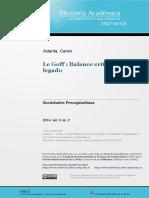 Dialnet- le goff. valance crítico de un legado- Carlos astarita.pdf