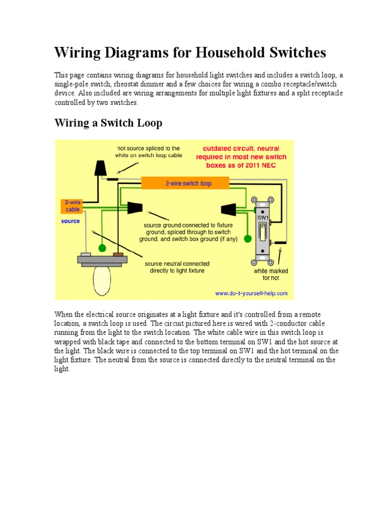 Wiring Dimmer Switch Loop Electronicswiring Diagram How To Wire A Common Diagramsdocx Electrical