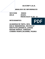 Analisis Eeff-Alicorp s.A