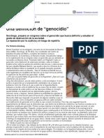 """Página_12 __ El País __ Una Definición de """"Genocidio"""""""