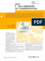 GE Lighting Systems Conserva 150 Series Spec Sheet 11-80