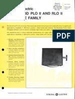 GE Lighting Systems Decaflood PLO II & RLO II Series Spec Sheet 9-80